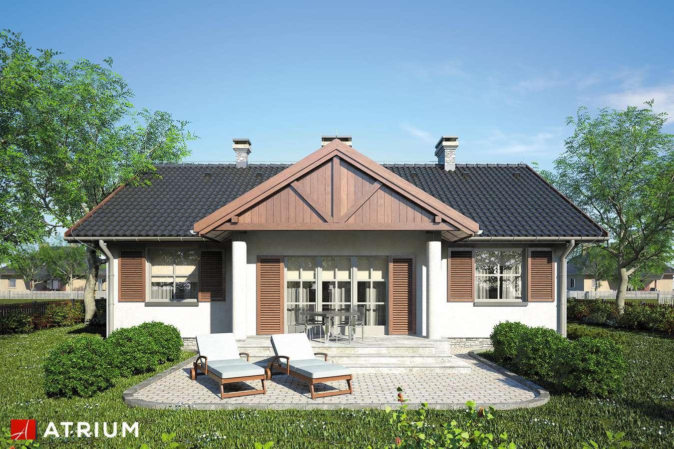 Projekt domu parterowego DWORECZEK - wizualizacja 2