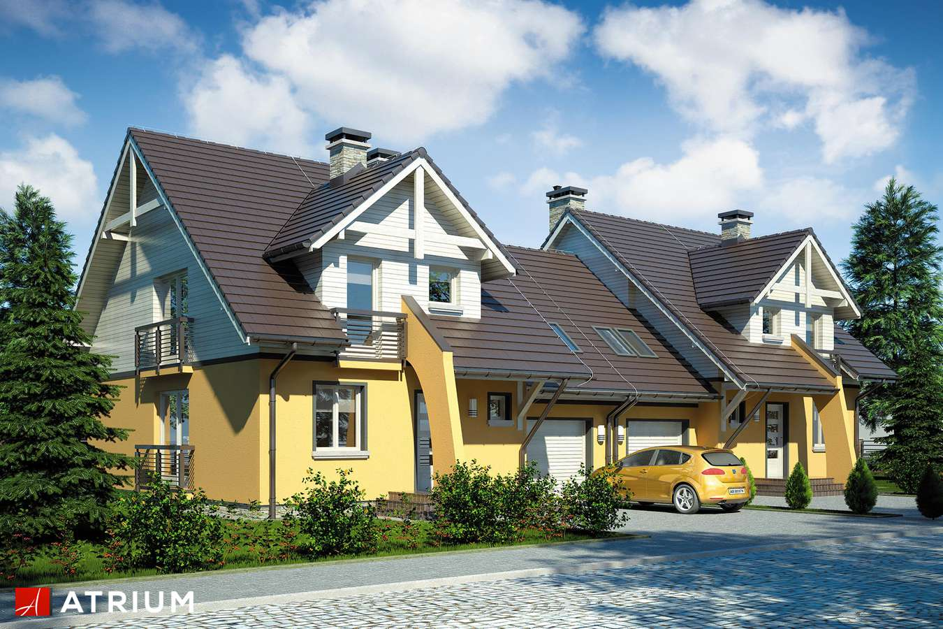 Projekty domów - Projekt domu z poddaszem FOKSTROT DUO - wizualizacja 1