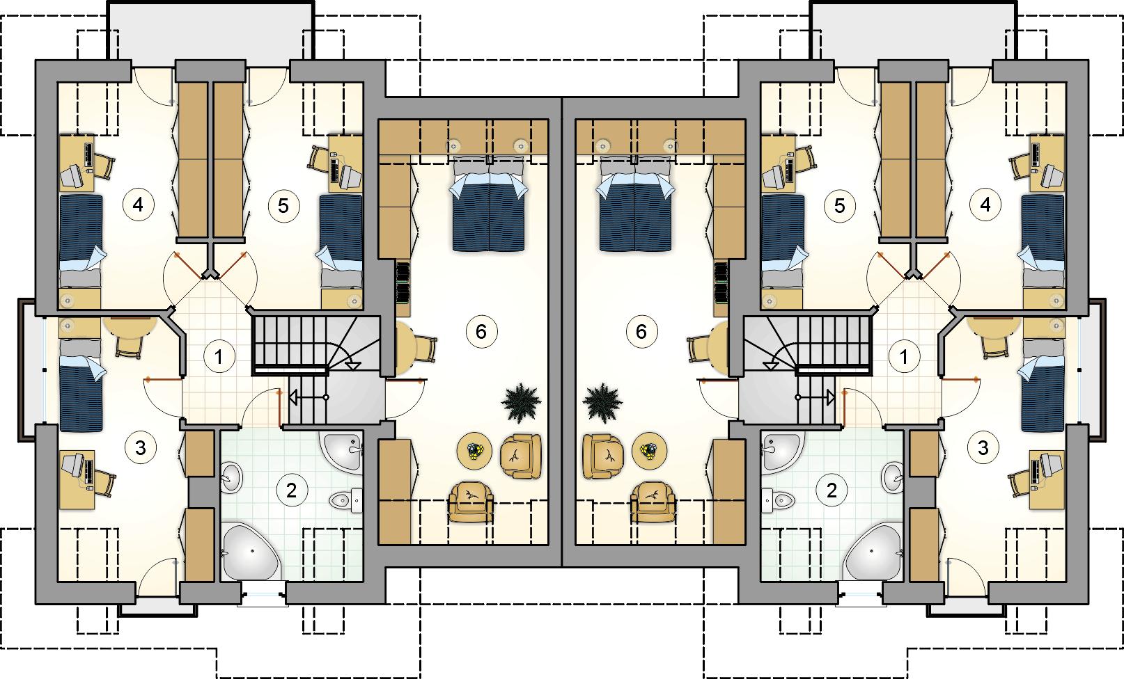 Rzut poddasza - projekt Fokstrot Duo