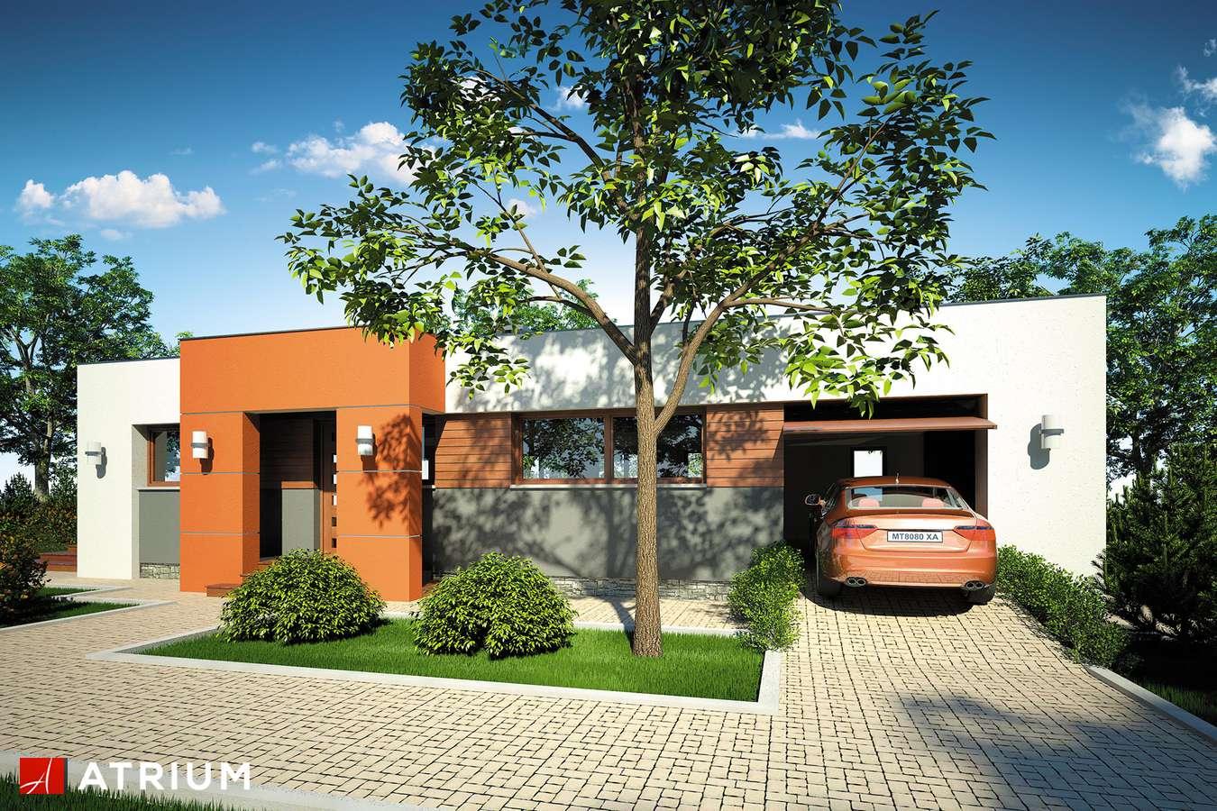 Projekty domów - Projekt domu parterowego VIVA - wizualizacja 1 - wersja lustrzana