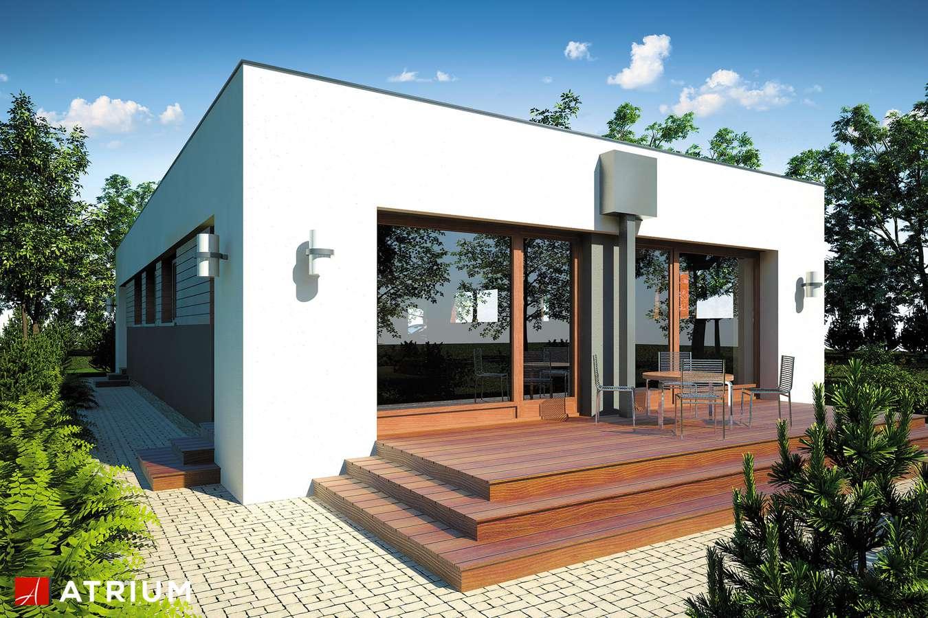 Projekty domów - Projekt domu parterowego VIVA - wizualizacja 2 - wersja lustrzana