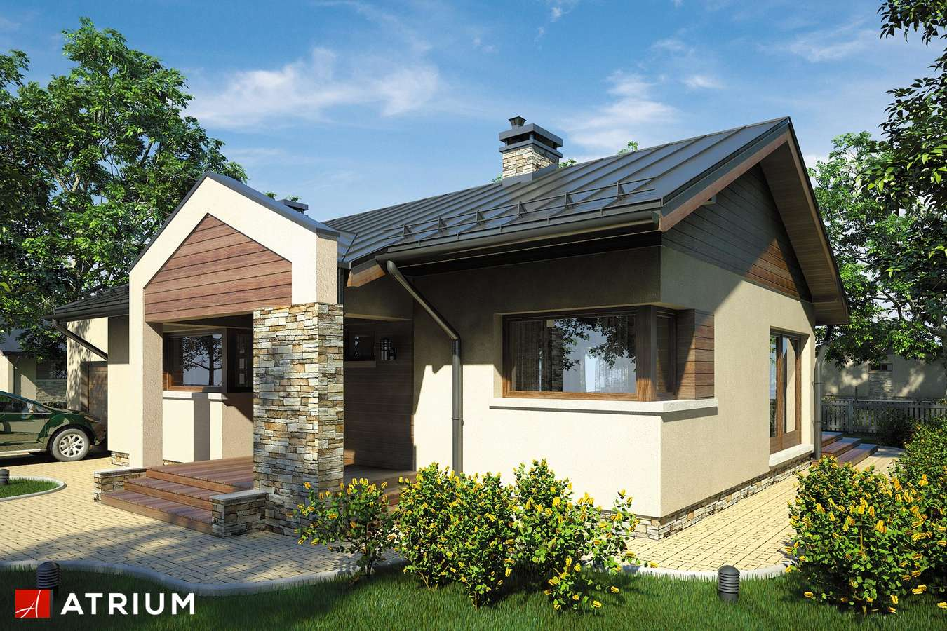 Projekty domów - Projekt domu parterowego RICARDO II - wizualizacja 1