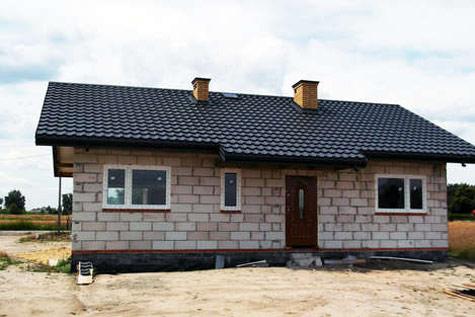 Projekt domu Amber w budowie