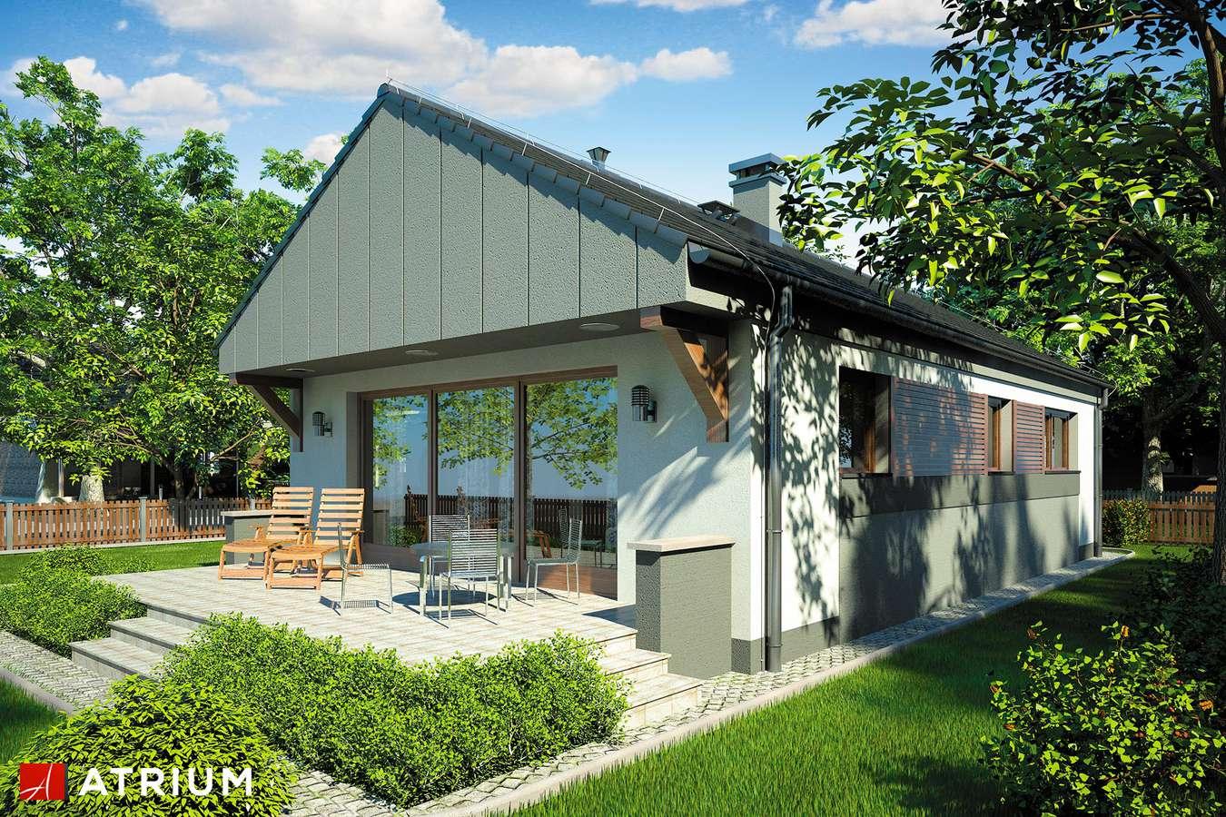 Projekty domów - Projekt domu parterowego WEKTOR II - wizualizacja 2