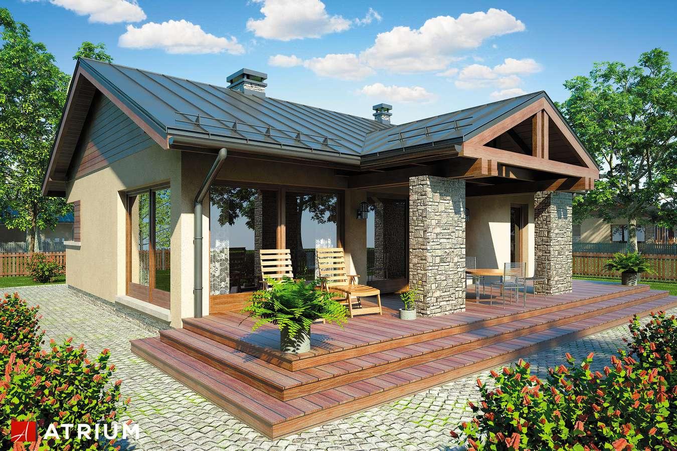 Projekty domów - Projekt domu parterowego RICARDO III - wizualizacja 2