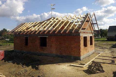 Projekt domu Amber II w budowie