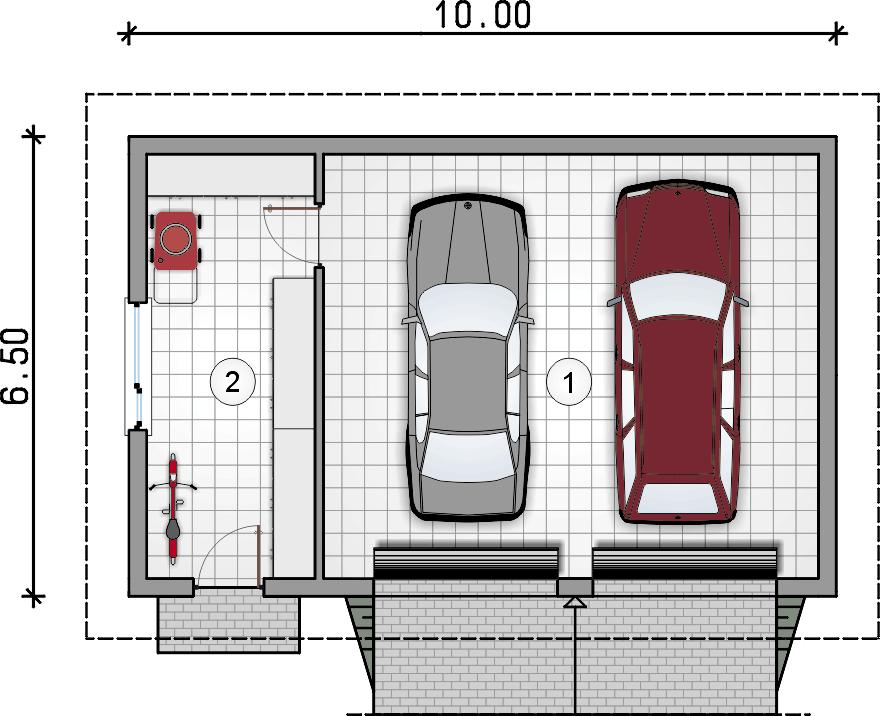 rzut garażu - Garaż Z 39