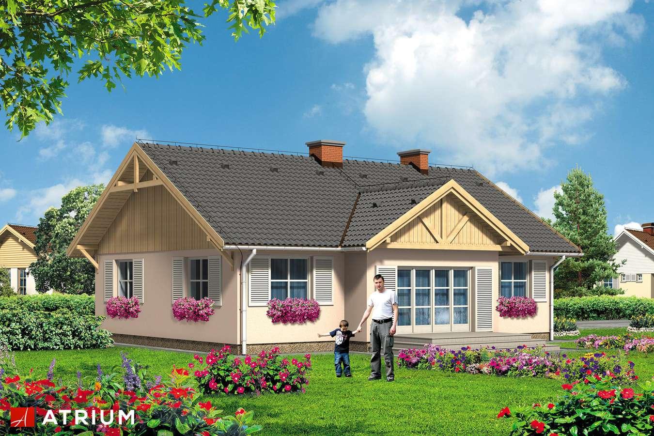Projekty domów - Projekt domu parterowego FANFAN - wizualizacja 1