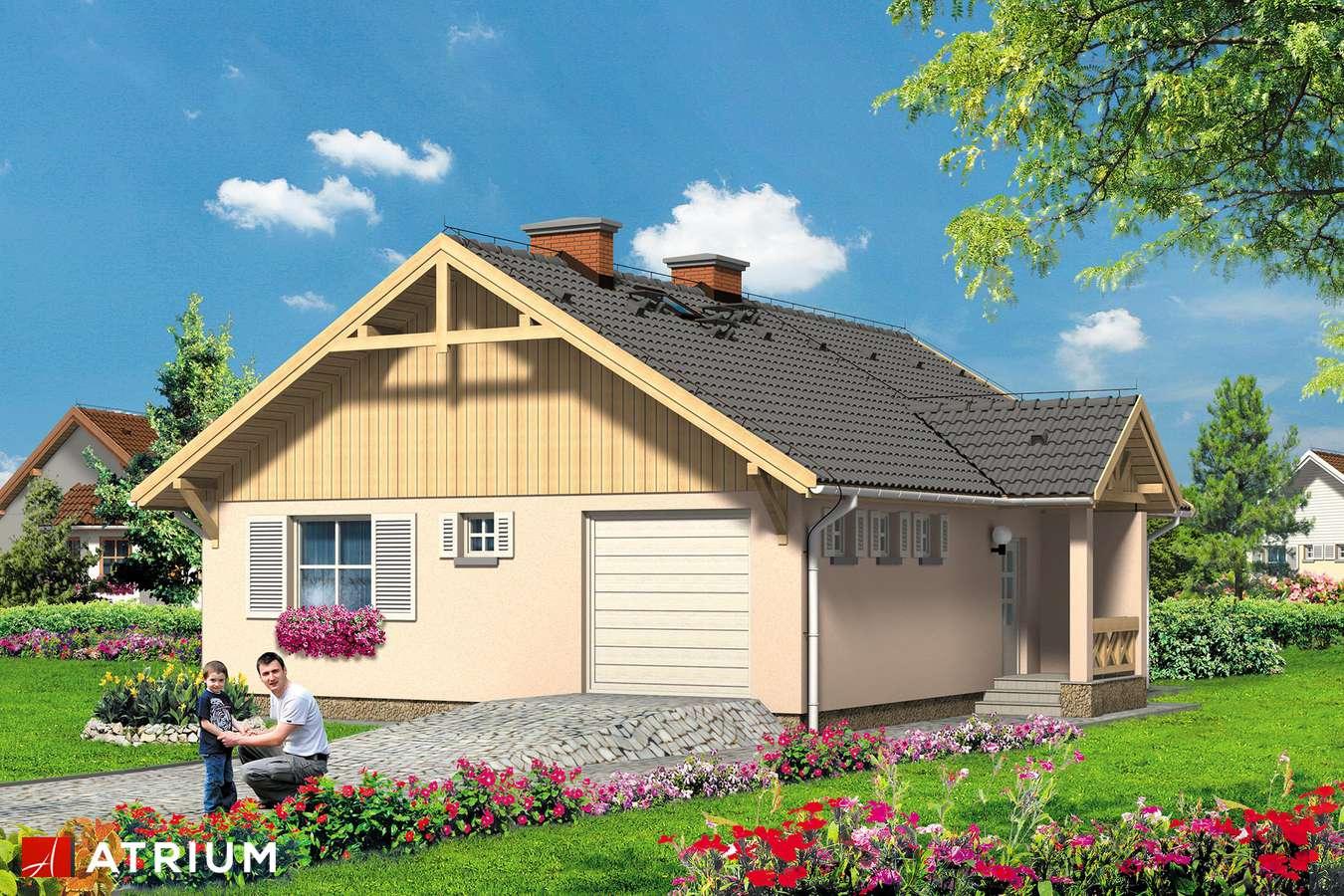 Projekty domów - Projekt domu parterowego FANFAN - wizualizacja 2
