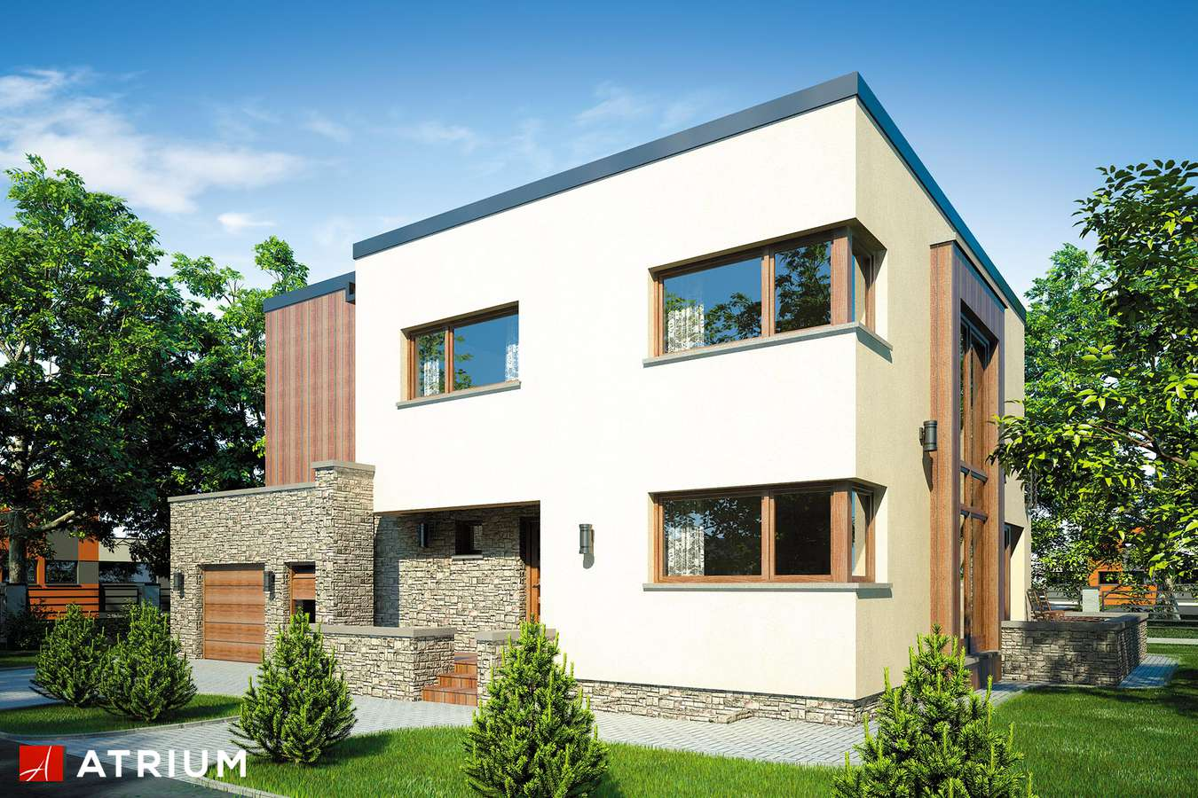 Projekty domów - Projekt domu piętrowego CYNAMON II - wizualizacja 2