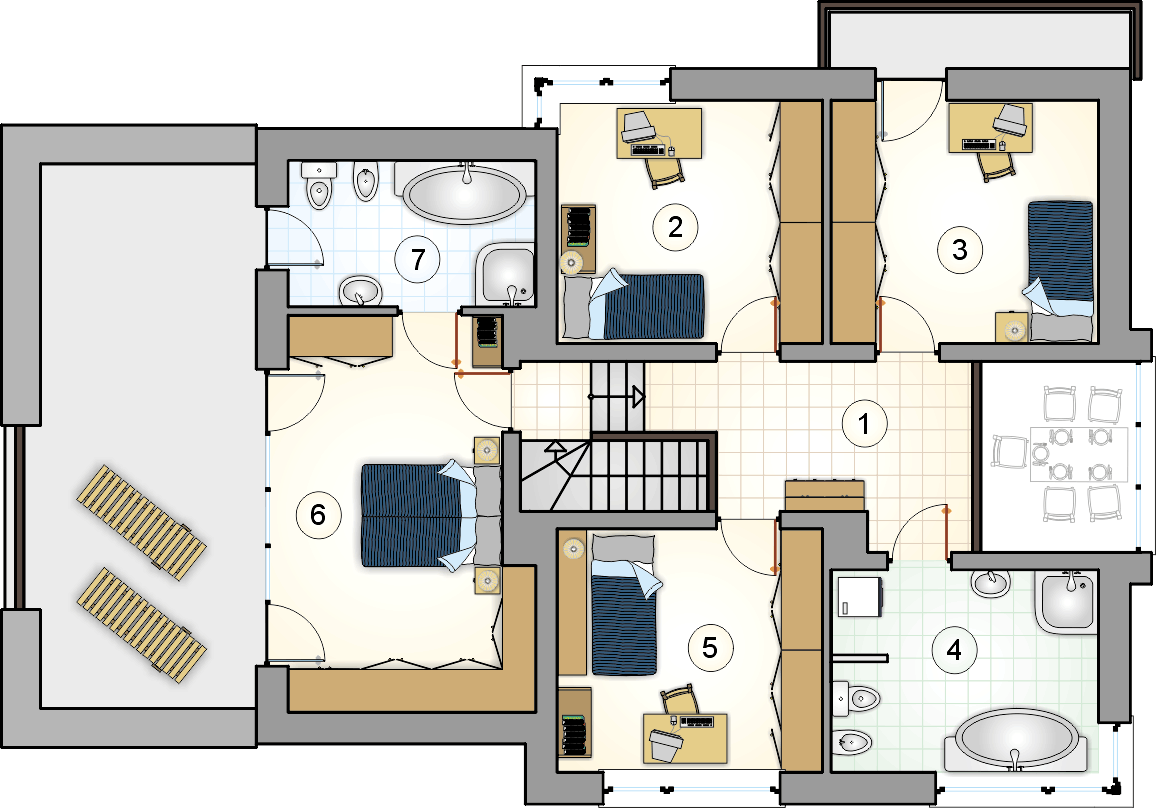 Rzut piętra - projekt Cynamon II