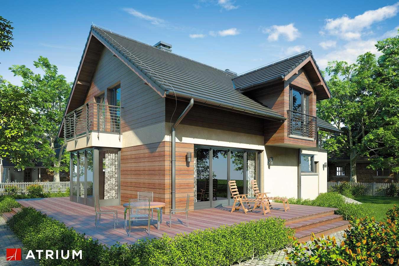 Projekty domów - Projekt domu z poddaszem KELVIN - wizualizacja 2