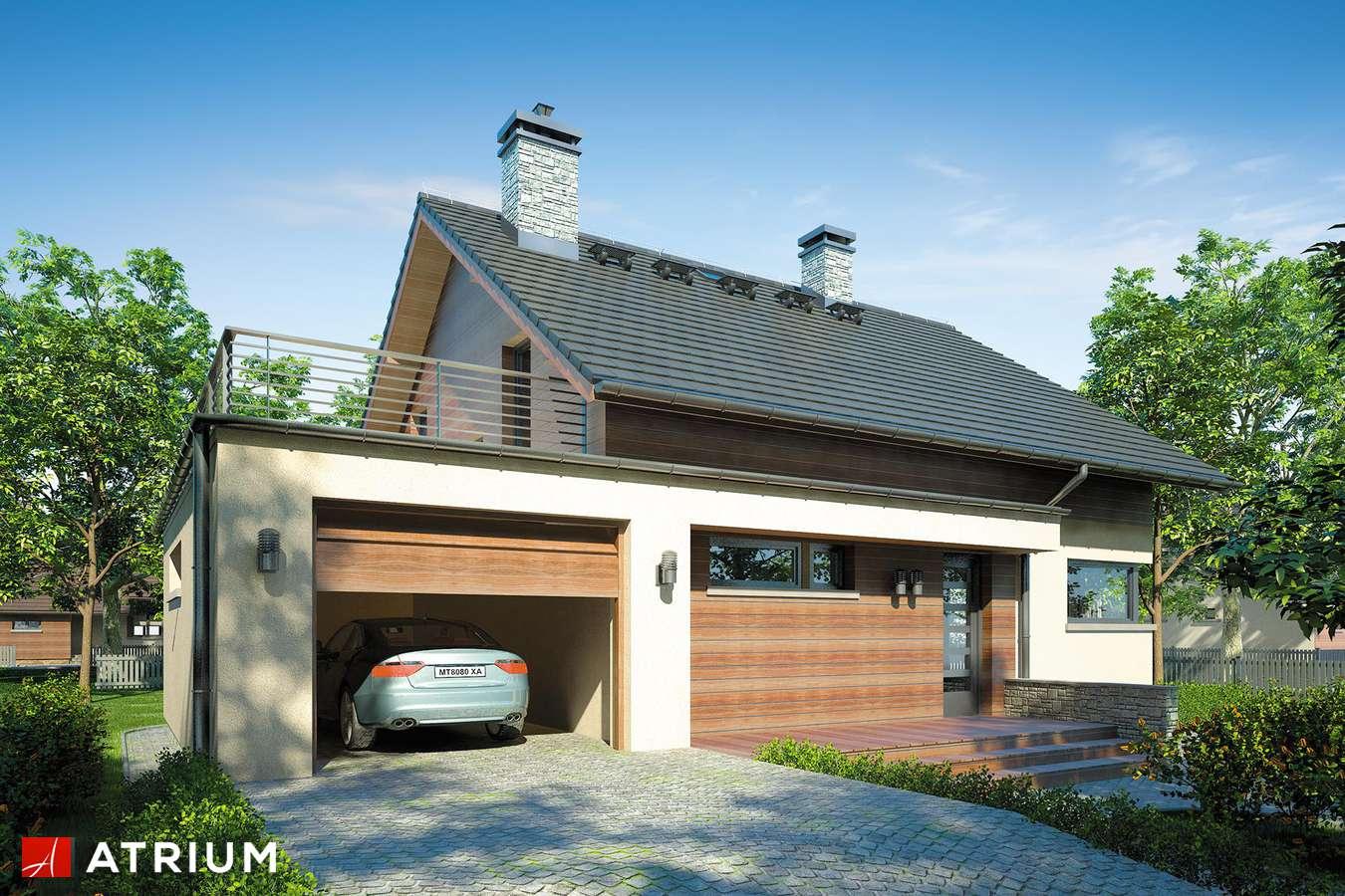 Projekty domów - Projekt domu z poddaszem KELVIN - wizualizacja 1