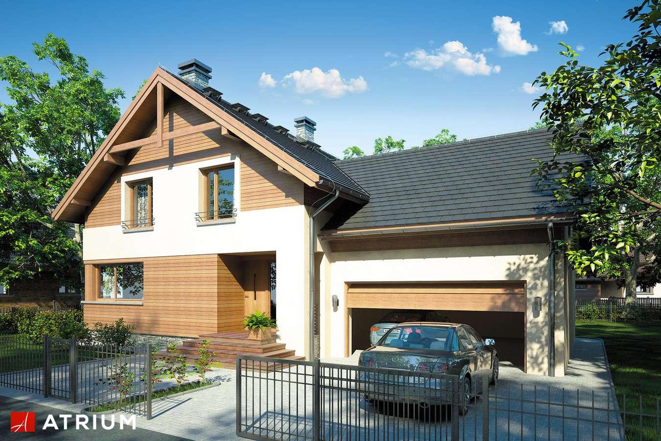 Projekty domów - Projekt domu z poddaszem JUPITER II - wizualizacja 1