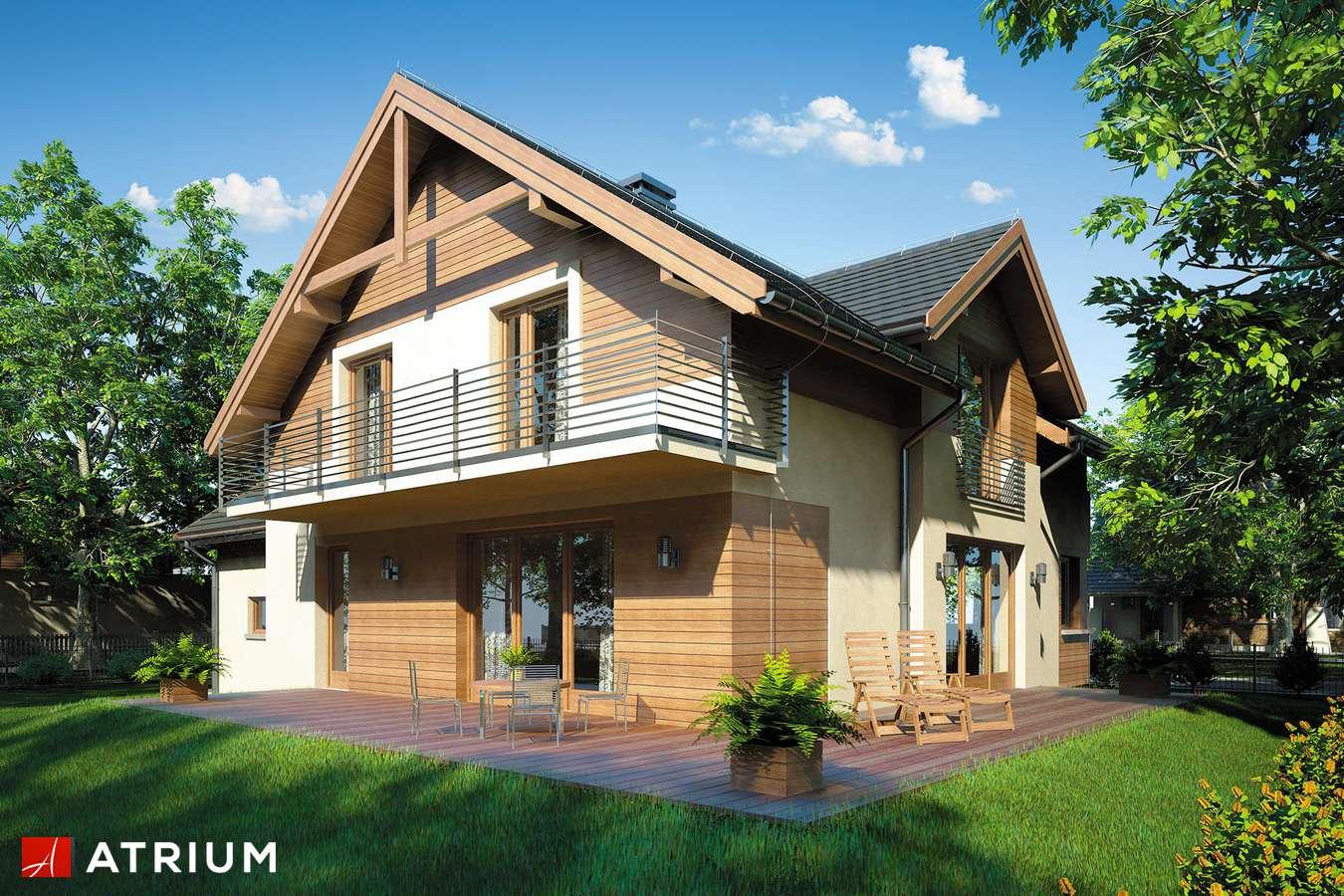 Projekty domów - Projekt domu z poddaszem JUPITER II - wizualizacja 2
