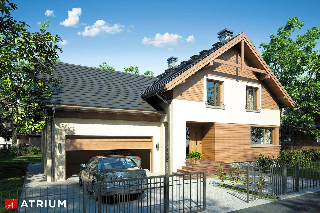 Projekty domów - Projekt domu z poddaszem JUPITER II - wizualizacja 1 - wersja lustrzana