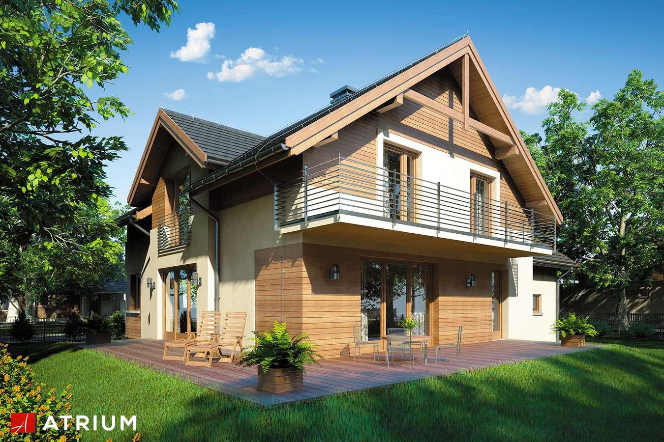Projekty domów - Projekt domu z poddaszem JUPITER II - wizualizacja 2 - wersja lustrzana
