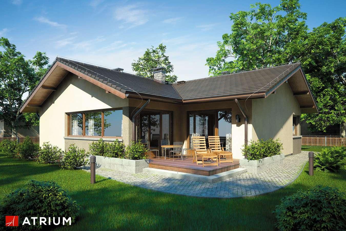 Projekty domów - Projekt domu parterowego OSTOJA III - wizualizacja 2