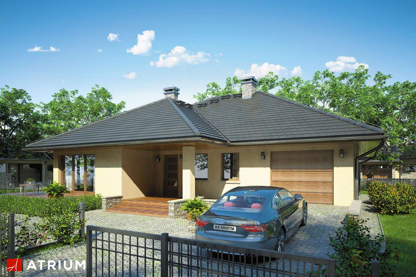 Projekty domów - Projekt domu parterowego BEVERLY - wizualizacja 1