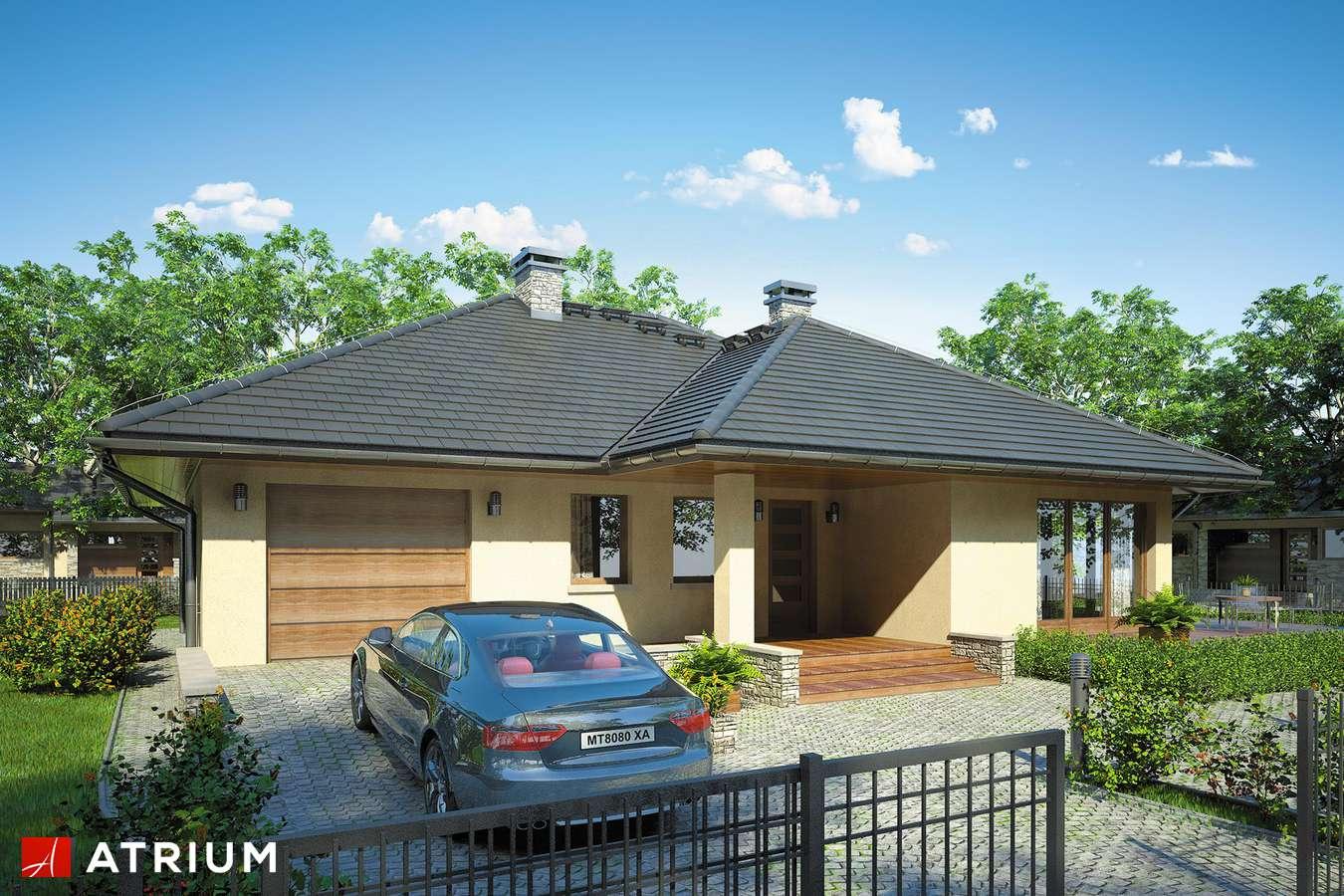 Projekty domów - Projekt domu parterowego BEVERLY - wizualizacja 1 - wersja lustrzana