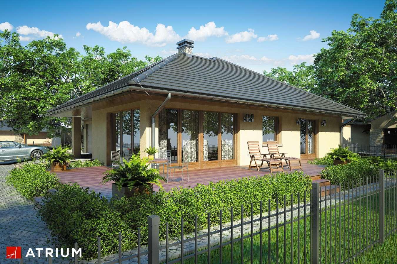 Projekty domów - Projekt domu parterowego BEVERLY - wizualizacja 2 - wersja lustrzana