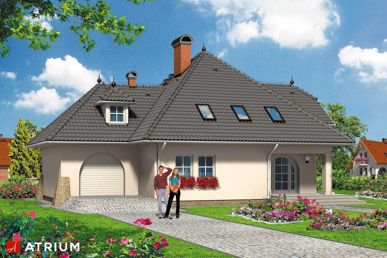 Projekty domów - Projekt domu z poddaszem PROTAZY - wizualizacja 1