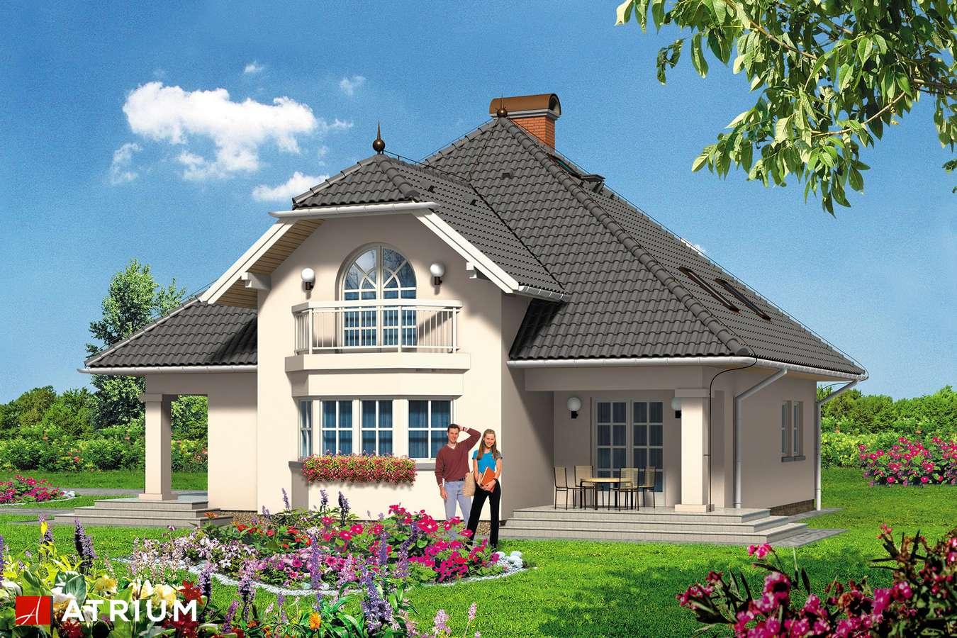 Projekty domów - Projekt domu z poddaszem PROTAZY - wizualizacja 2