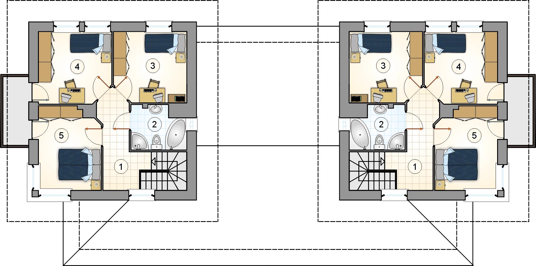 Rzut piętra - projekt Siena Duo