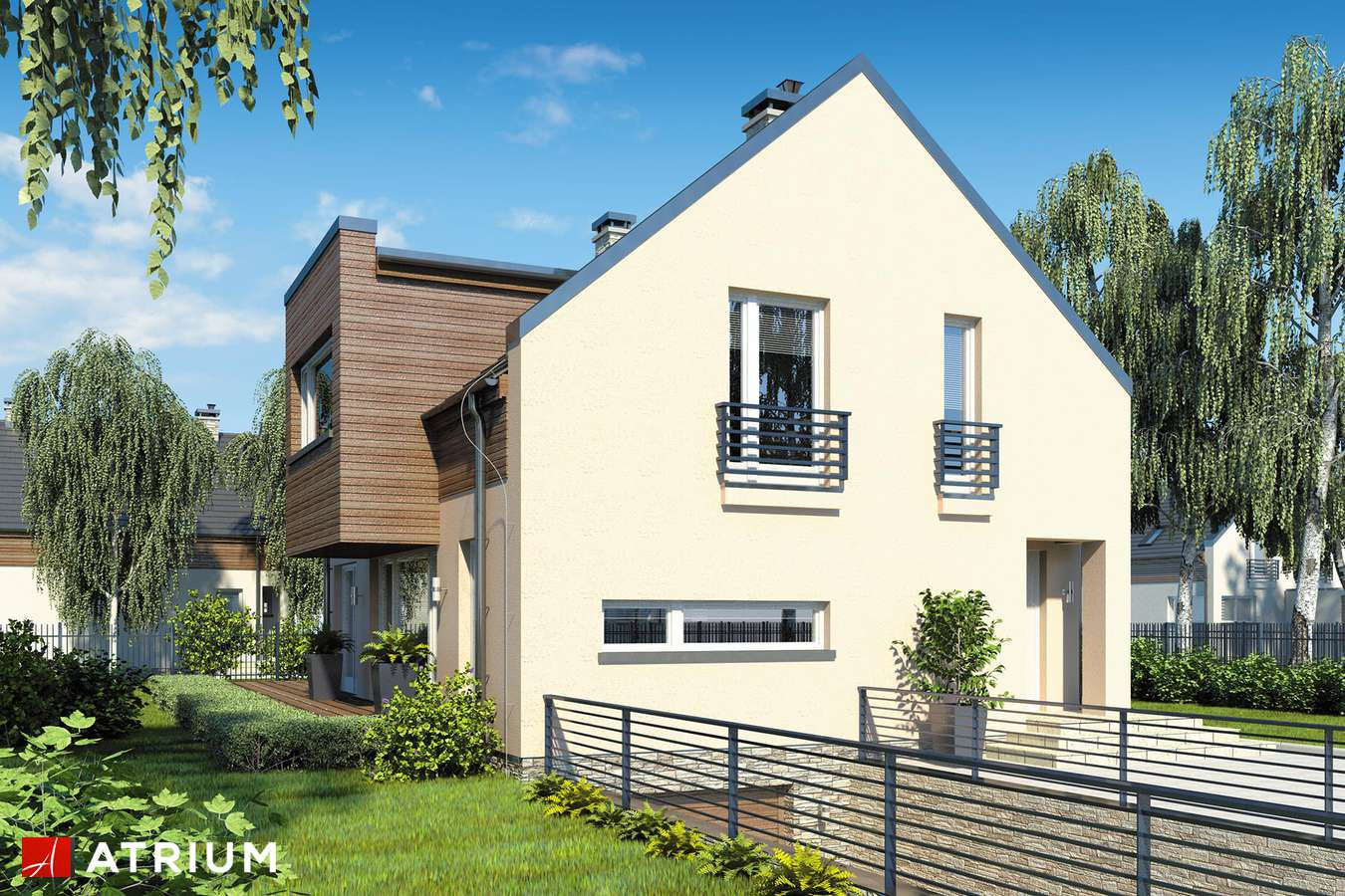 Projekty domów - Projekt domu z poddaszem WENA PLUS - wizualizacja 1
