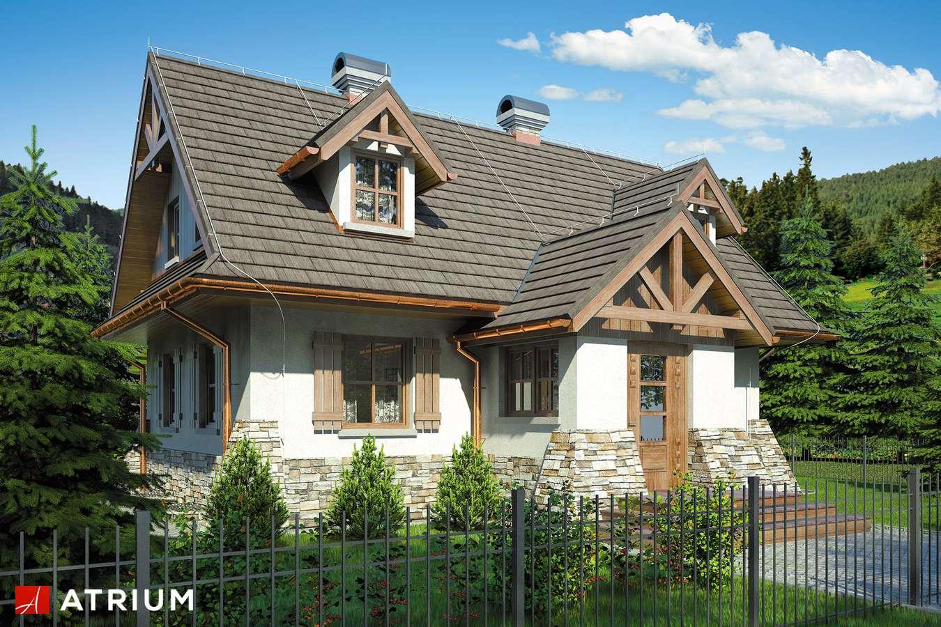 Projekty domów - Projekt domu z poddaszem ONDRASZEK II - wizualizacja 1