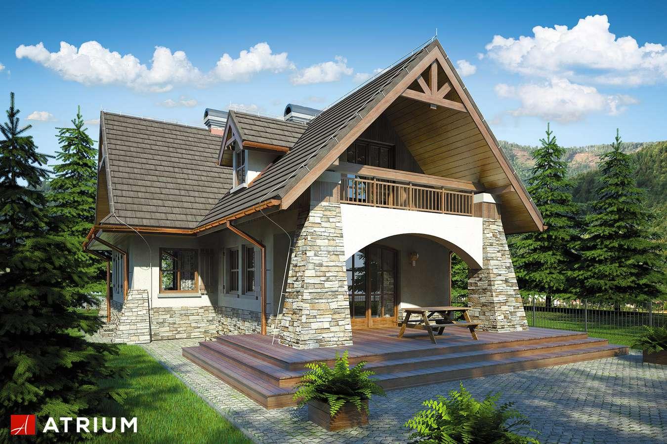 Projekty domów - Projekt domu z poddaszem ONDRASZEK II - wizualizacja 2