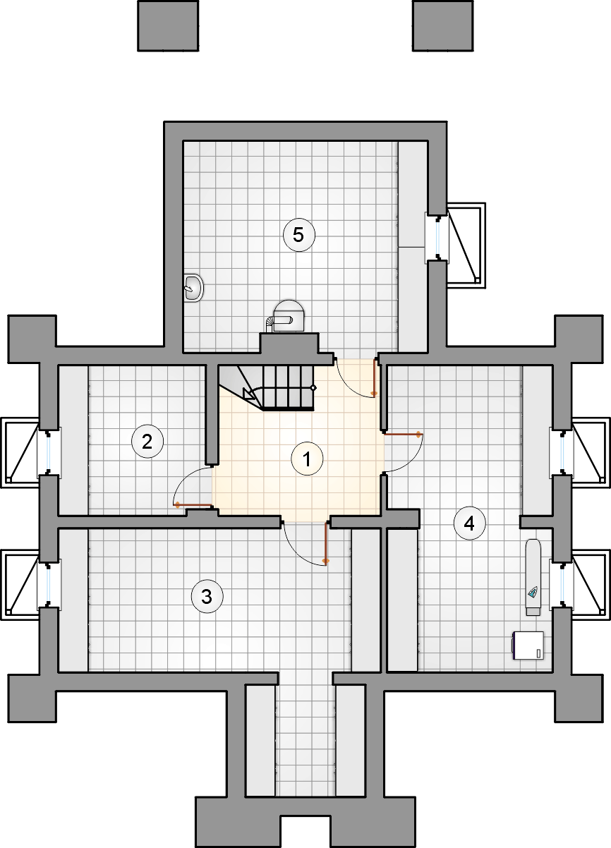 Rzut piwnicy - projekt Ondraszek II