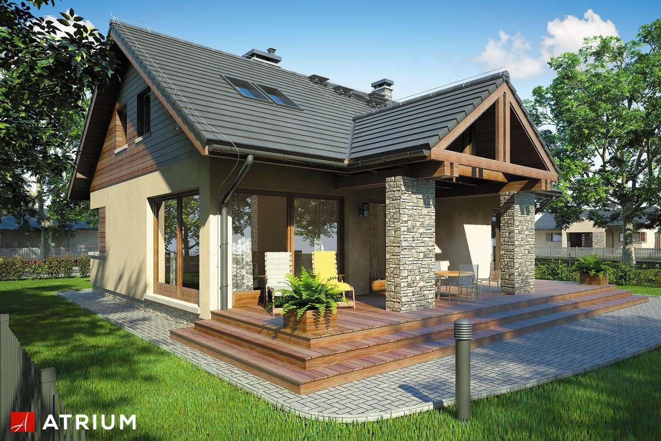 Projekty domów - Projekt domu z poddaszem RICARDO V - wizualizacja 2
