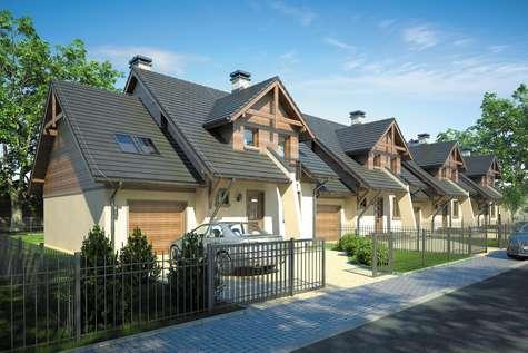 Projekt domu z poddaszem FOKSTROT MULTI - wizualizacja 1