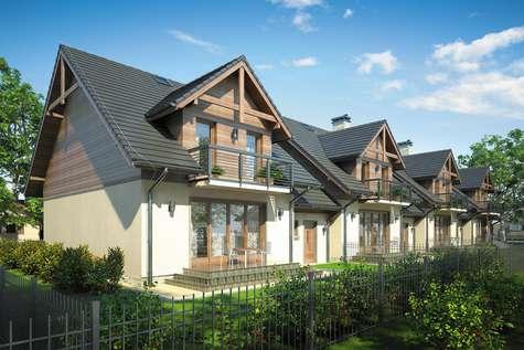 Projekt domu z poddaszem FOKSTROT MULTI - wizualizacja 2