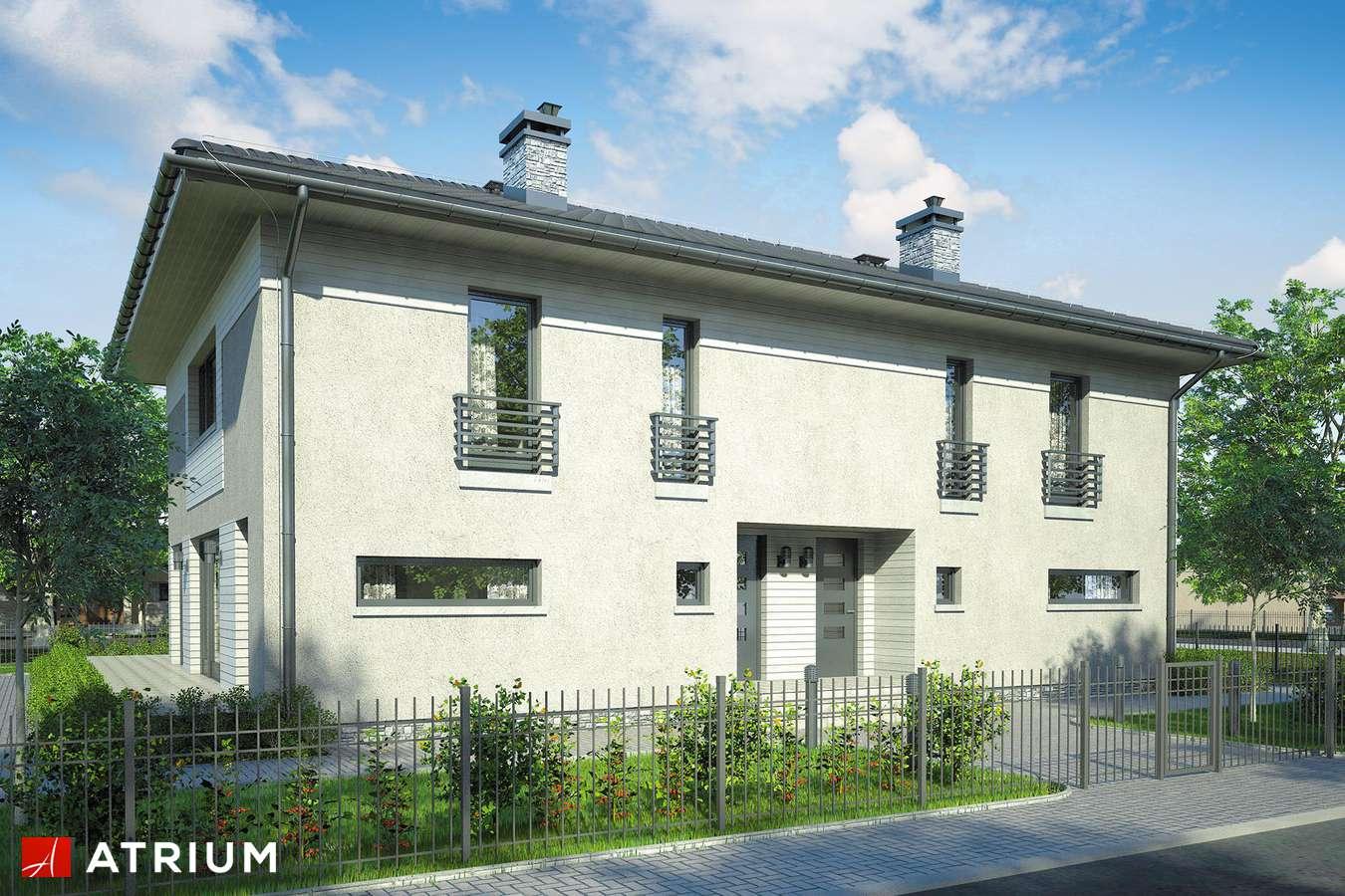 Projekty domów - Projekt domu piętrowego MILANO DUO - wizualizacja 1
