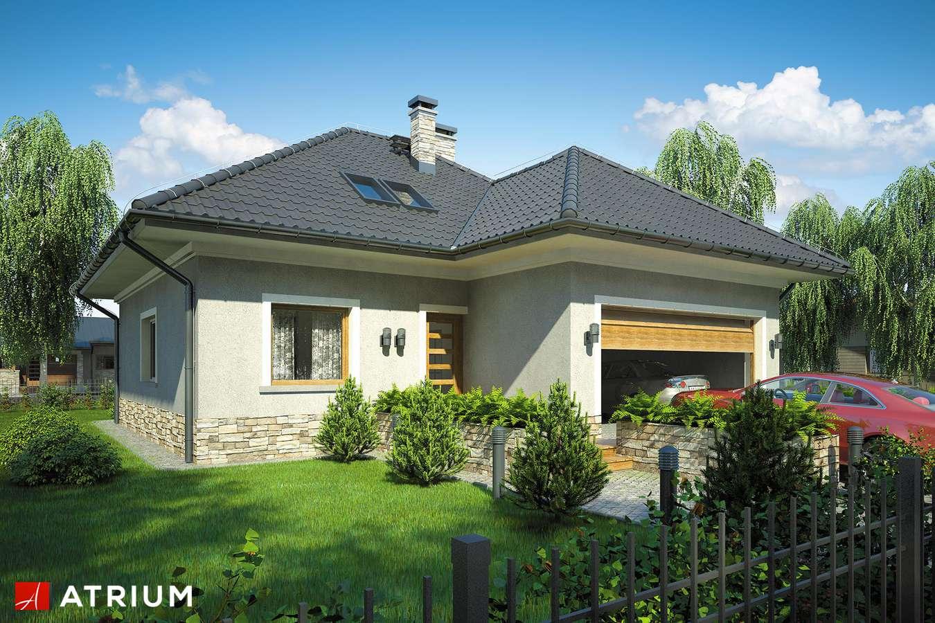 Projekty domów - Projekt domu z poddaszem FADO - wizualizacja 1