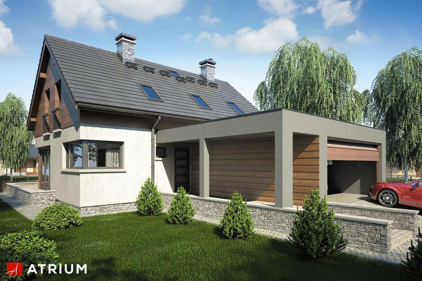Projekty domów - Projekt domu z poddaszem SAMBA IV - wizualizacja 1 - wersja lustrzana