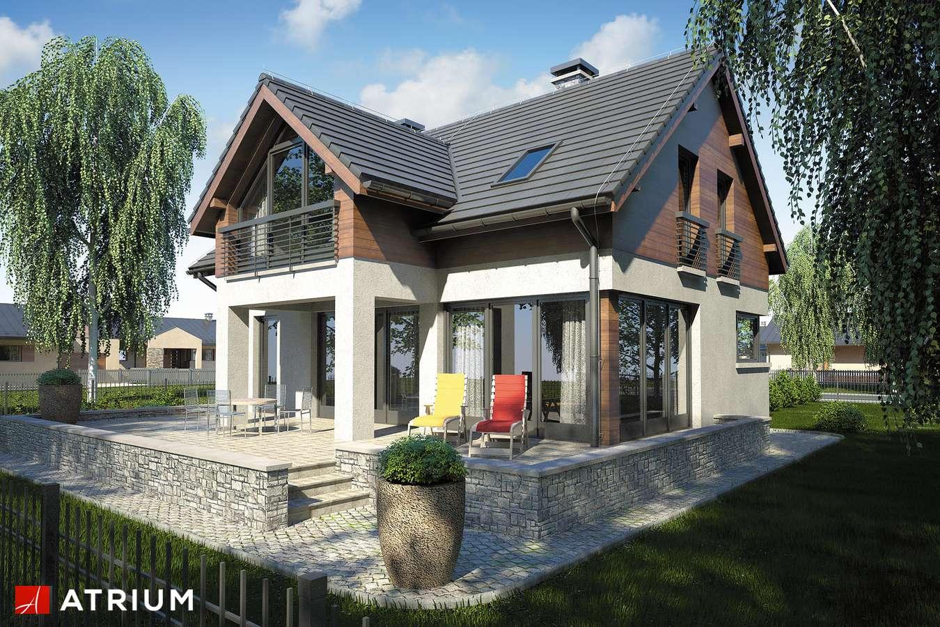 Projekty domów - Projekt domu z poddaszem SAMBA IV - wizualizacja 2 - wersja lustrzana