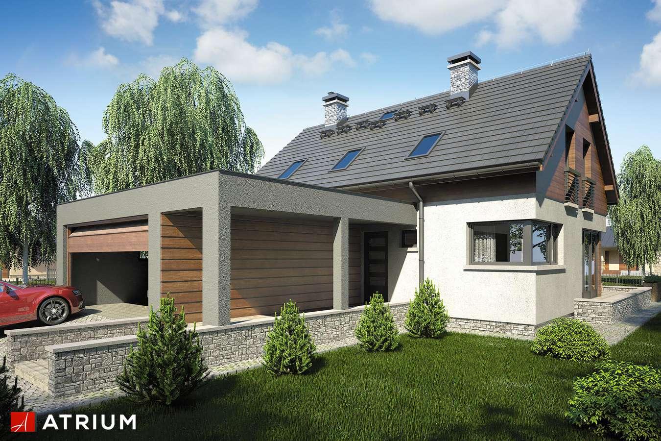 Projekty domów - Projekt domu z poddaszem SAMBA IV - wizualizacja 1