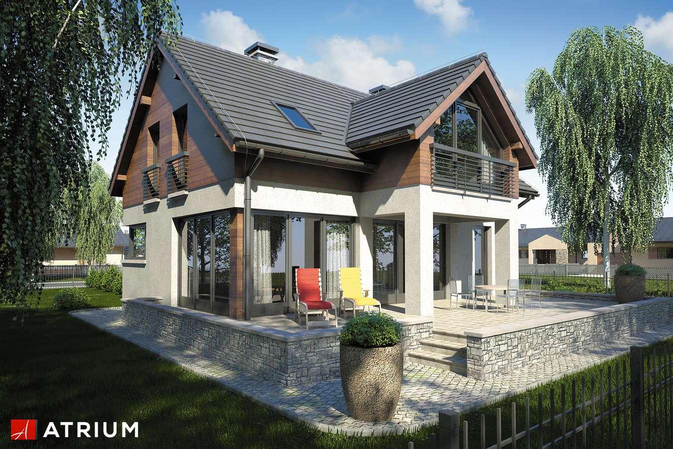 Projekty domów - Projekt domu z poddaszem SAMBA IV - wizualizacja 2