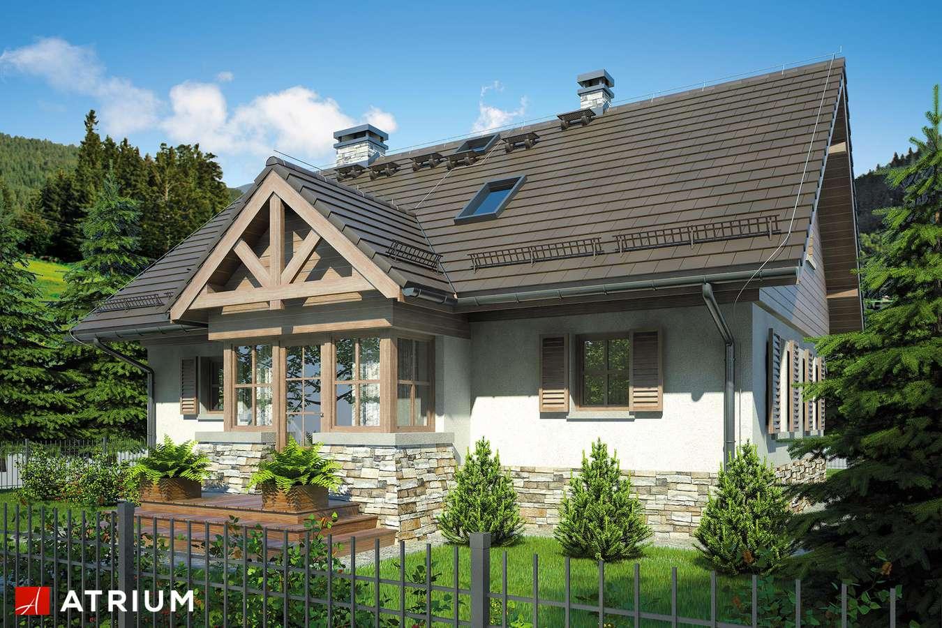 Projekty domów - Projekt domu z poddaszem U GAZDY II - wizualizacja 1 - wersja lustrzana