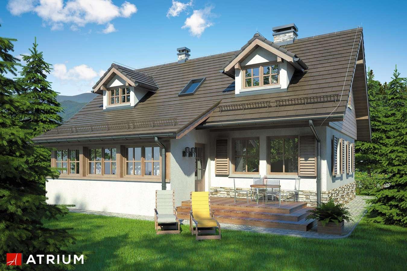 Projekty domów - Projekt domu z poddaszem U GAZDY II - wizualizacja 2 - wersja lustrzana