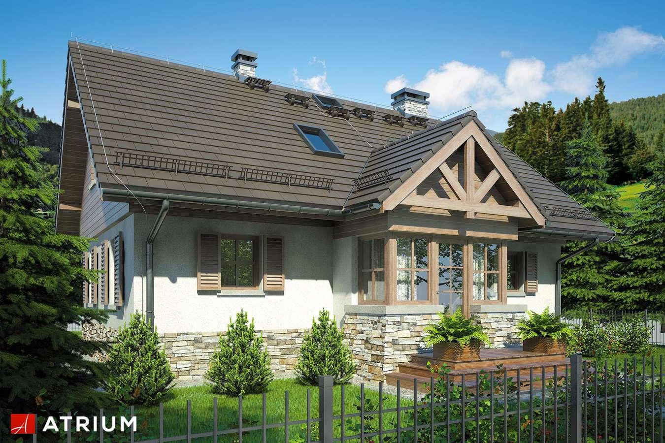 Projekty domów - Projekt domu z poddaszem U GAZDY II - wizualizacja 1