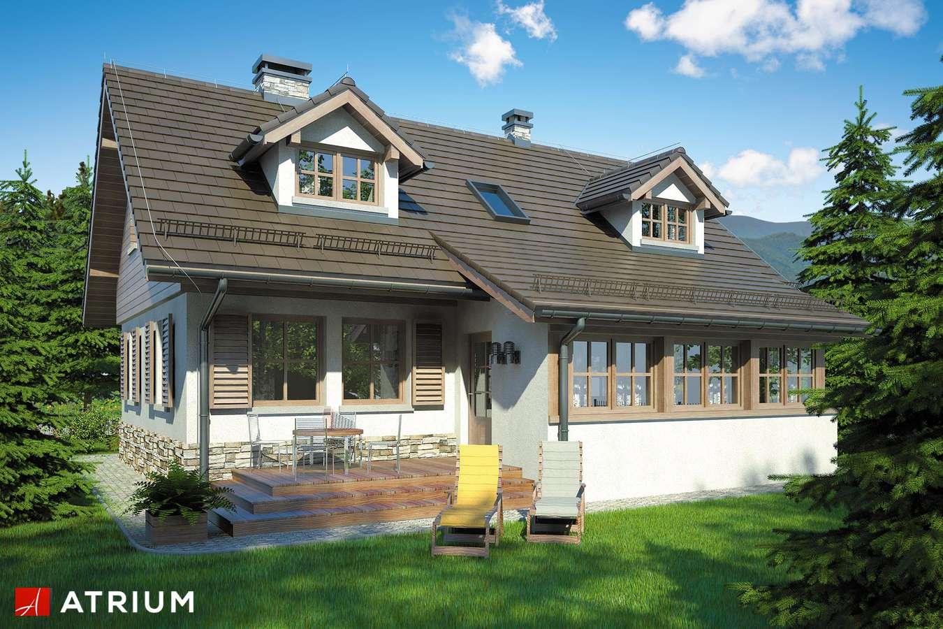Projekty domów - Projekt domu z poddaszem U GAZDY II - wizualizacja 2