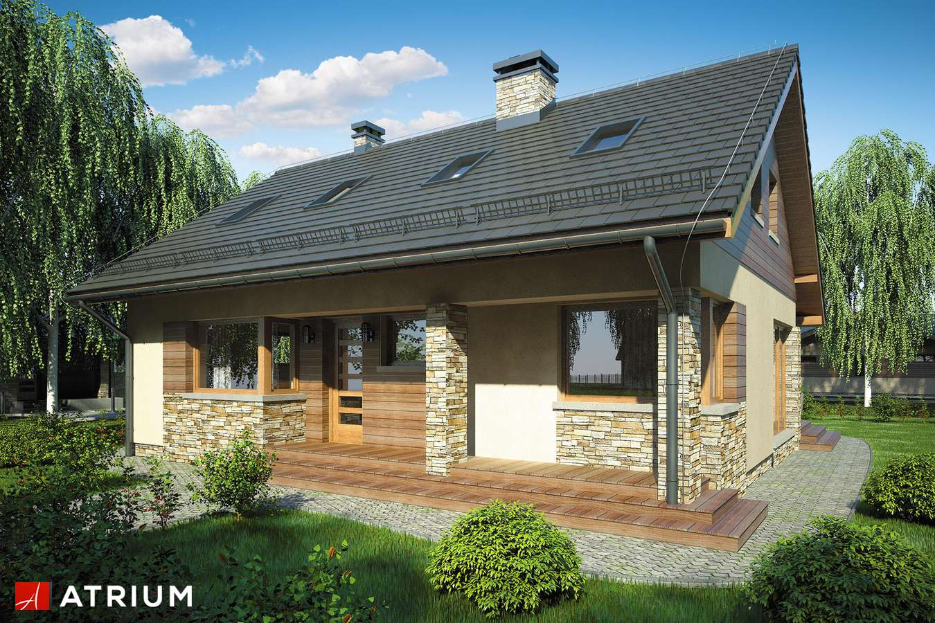 Projekty domów - Projekt domu z poddaszem RICARDO VI - wizualizacja 1