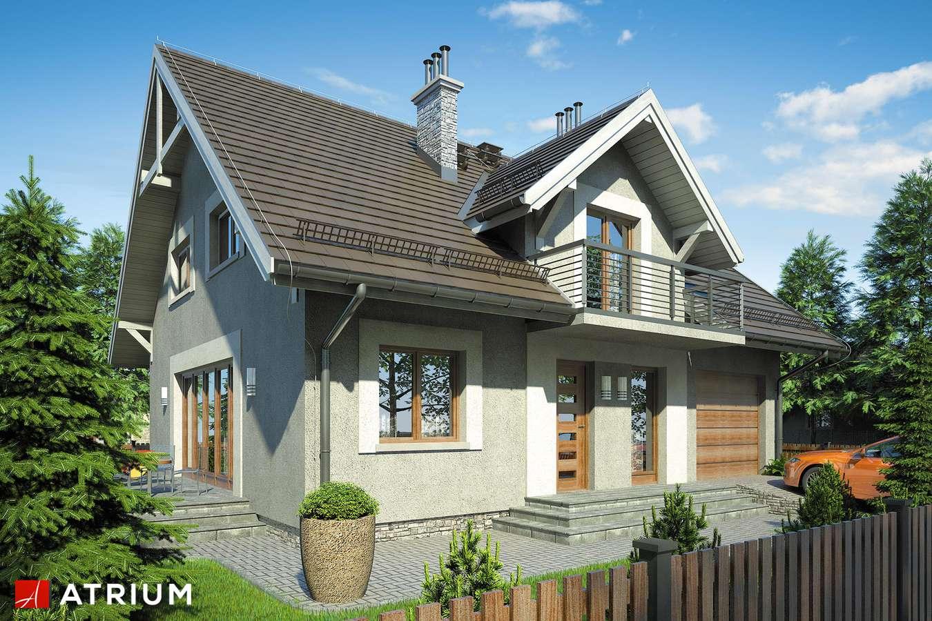 Projekty domów - Projekt domu z poddaszem KAMIL II - wizualizacja 1