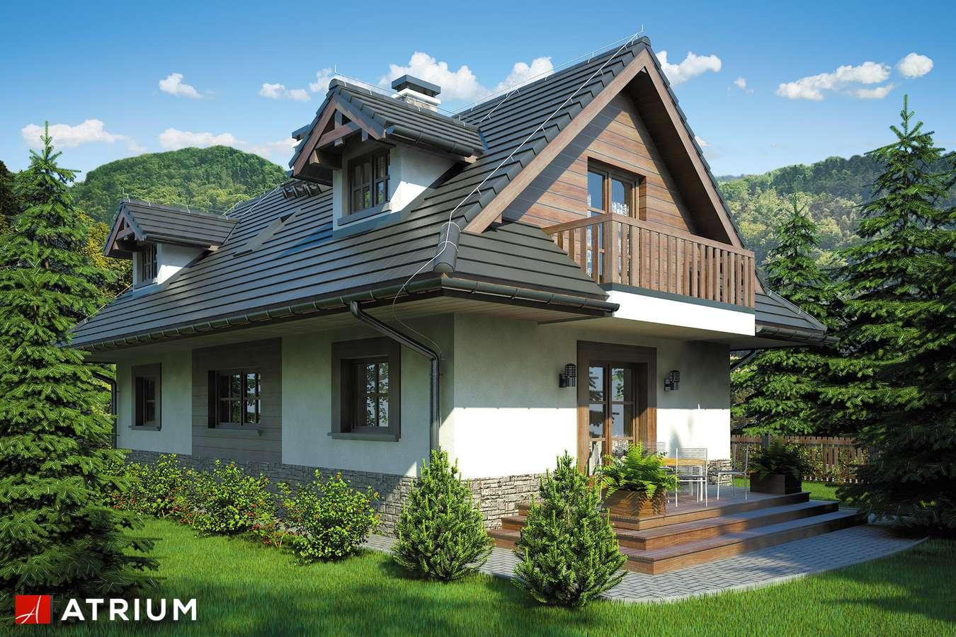 Projekty domów - Projekt domu z poddaszem KOLIBA - wizualizacja 2