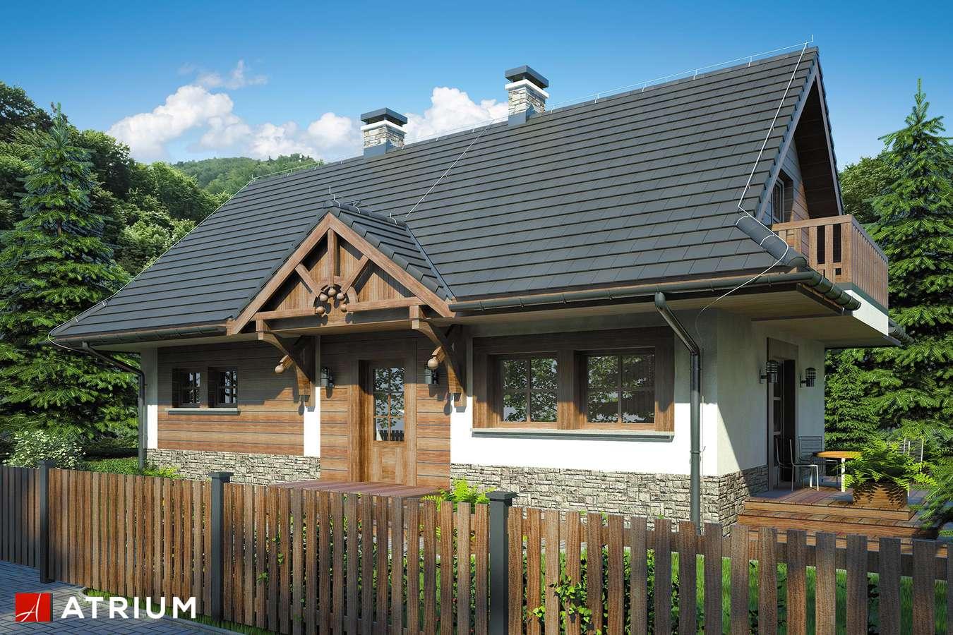 Projekty domów - Projekt domu z poddaszem KOLIBA - wizualizacja 1 - wersja lustrzana