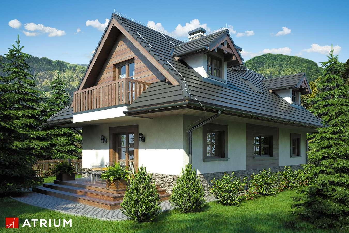 Projekty domów - Projekt domu z poddaszem KOLIBA - wizualizacja 2 - wersja lustrzana
